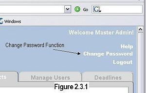 Figure 2.3.1 - Change Password